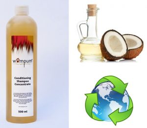 Wampum Conditioning Shampoo Concentrate is natural and biodegradable